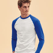 Long Sleeve Baseball T-Shirt by Fruit of the Loom